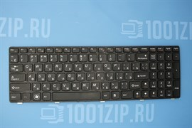 Клавиатура для ноутбука Lenovo G580, V580, Z580 черная с черной рамкой