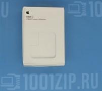 Зарядка для ноутбука Apple (A1540) 29W USB Type-C, высокая копия с логотипом, без Type-C  кабели