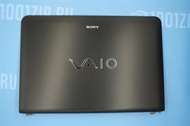 Крышка матрицы для Sony VAIO SVE14, SVE141 с петлями и видео шлейфом, 3FHK6LHN000, EAHK6003010, черная