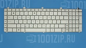 Клавиатура для ноутбука Asus N55, N55S, N55SF, N55SL серебристая