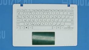 Клавиатура для ноутбука Asus X200CA белая с топкейсом