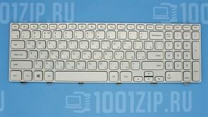 Клавиатура для ноутбука Dell 15-7000 серебристая с подсветкой