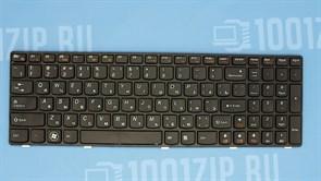 Клавиатура для ноутбука Lenovo G570, G770, Z560 черная с черной рамкой