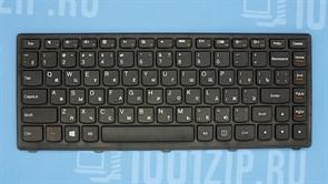 Клавиатура для ноутбука Lenovo S300, S400, S405 черная с рамкой