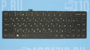 Клавиатура для ноутбука Lenovo Yoga 3 Pro 13 черная без рамки, с подсветкой