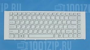 Клавиатура для ноутбука Sony VPC-EA белая с рамкой