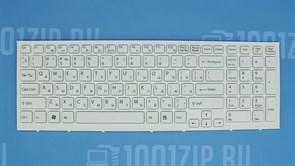 Клавиатура для ноутбука Sony VPC-EB белая с рамкой