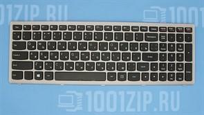 Клавиатура для ноутбука Lenovo P500, Z500 черная с серой рамкой
