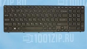 Клавиатура для ноутбука Sony SVE15, SVE17 черная с черной рамкой
