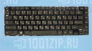 Клавиатура для ноутбука Toshiba L800, L830, C800 черная с черной рамкой